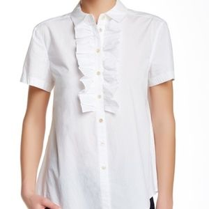 Marc Jacobs Ruffle Button Down Blouse